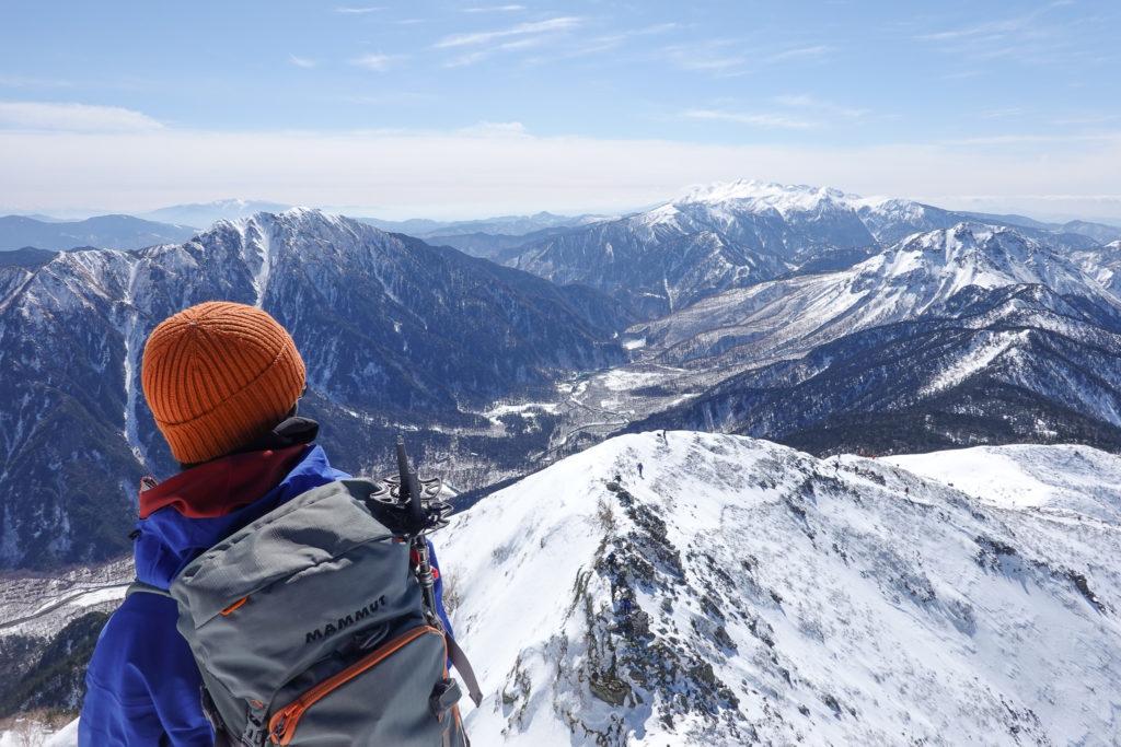 厳冬期・西穂高岳・西穂独標・霞沢岳、上高地、焼岳そして乗鞍岳
