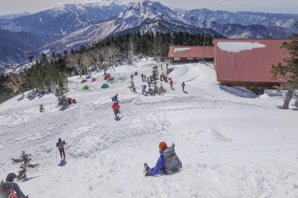 厳冬期・西穂高岳・西穂独標・西穂山荘、尻シェード