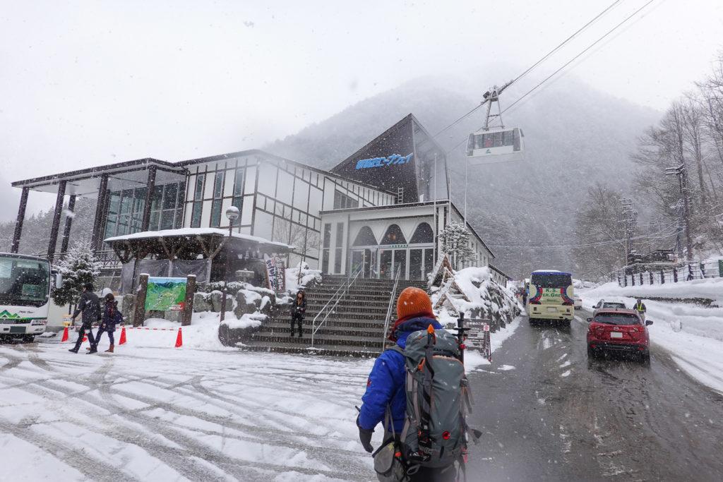 厳冬期・西穂丸山・新穂高ロープウェイ