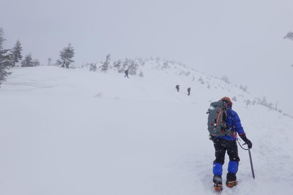 厳冬期・西穂丸山・西穂山荘から丸山へ