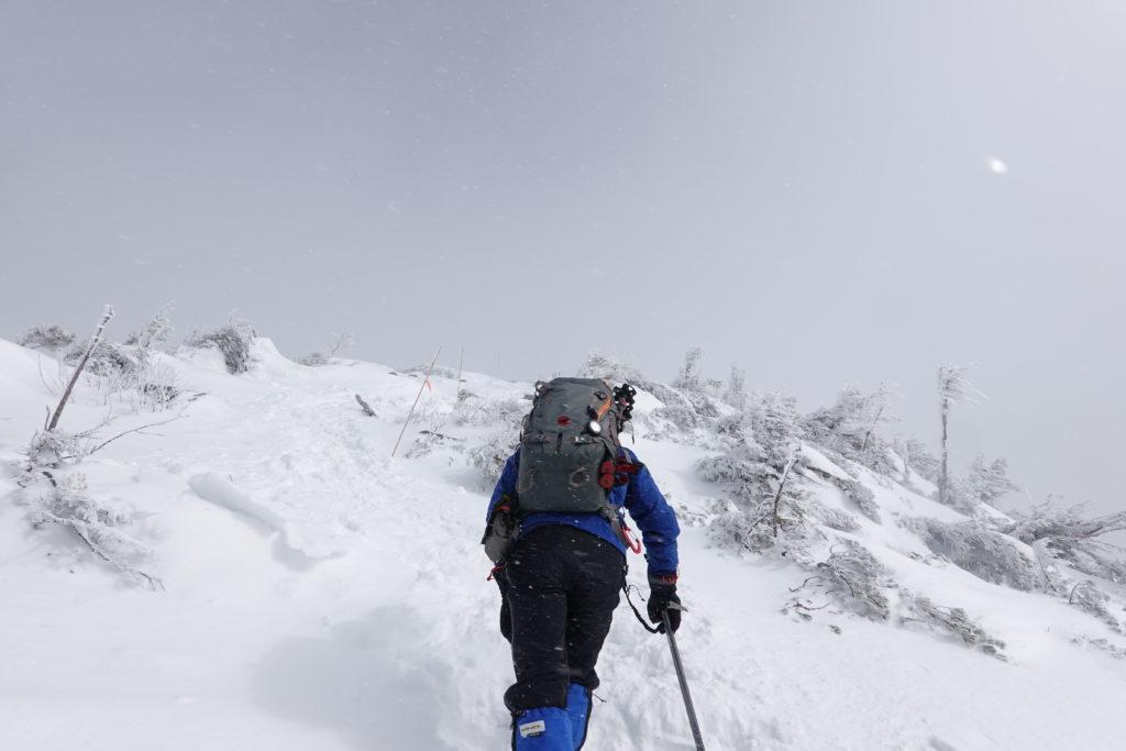 厳冬期・西穂丸山・西穂山荘から丸山へ2