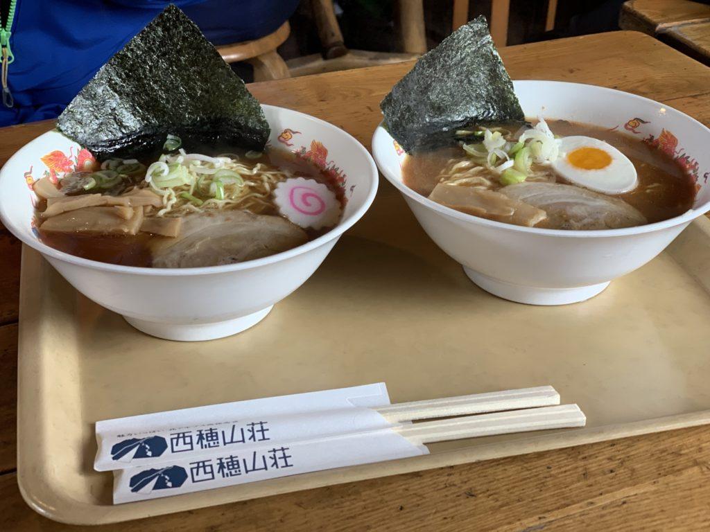 厳冬期・西穂丸山・西穂山荘・西穂らーめん(醤油・味噌)