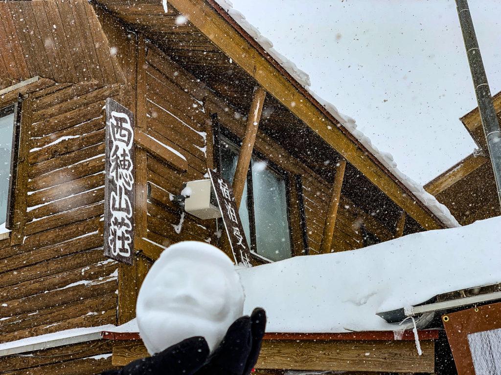 厳冬期・西穂丸山・西穂山荘と雪だるま