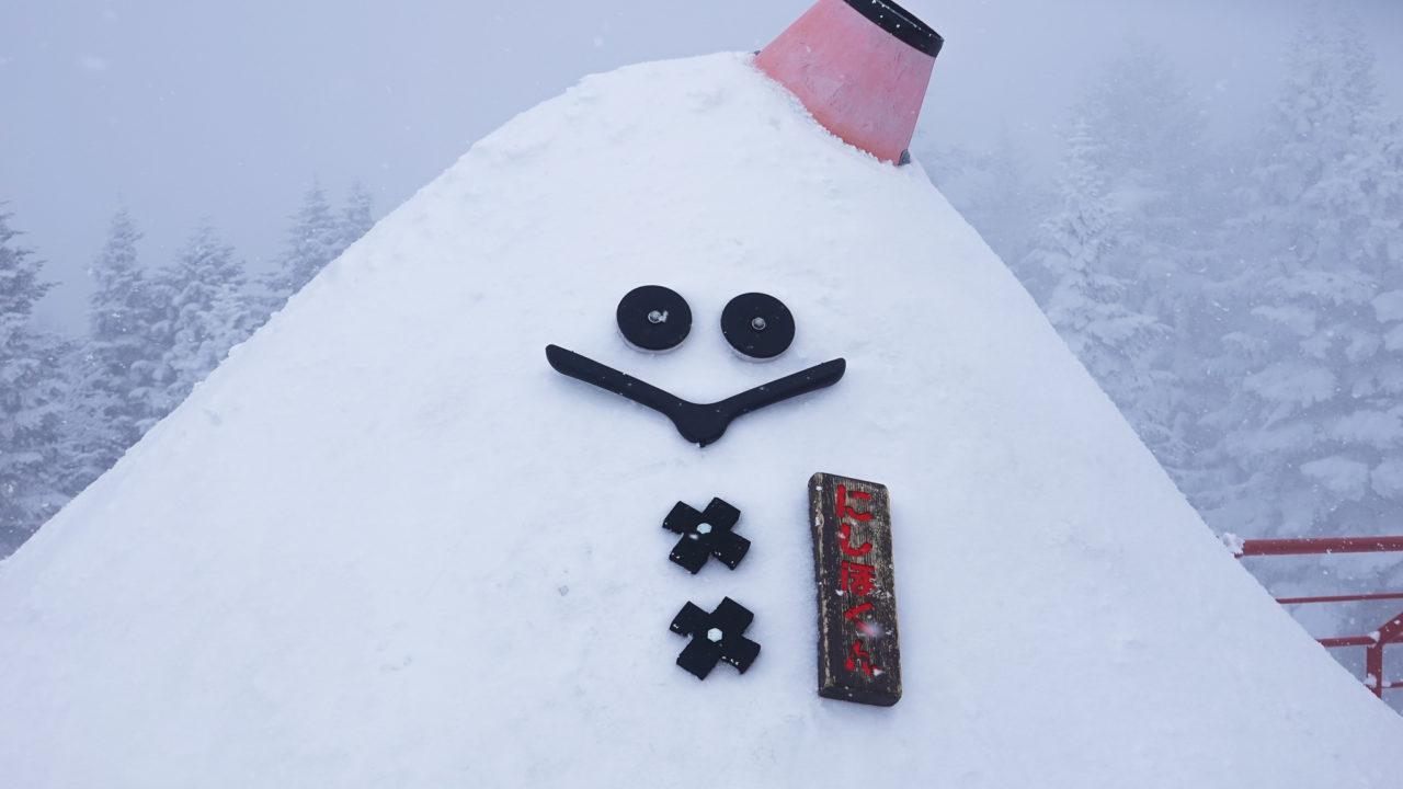 厳冬期・西穂丸山・新穂高ロープウェイ・にしほくん
