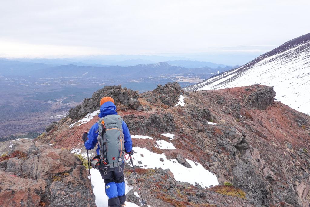 残雪期・浅間山・仙人岳から鋸岳へ