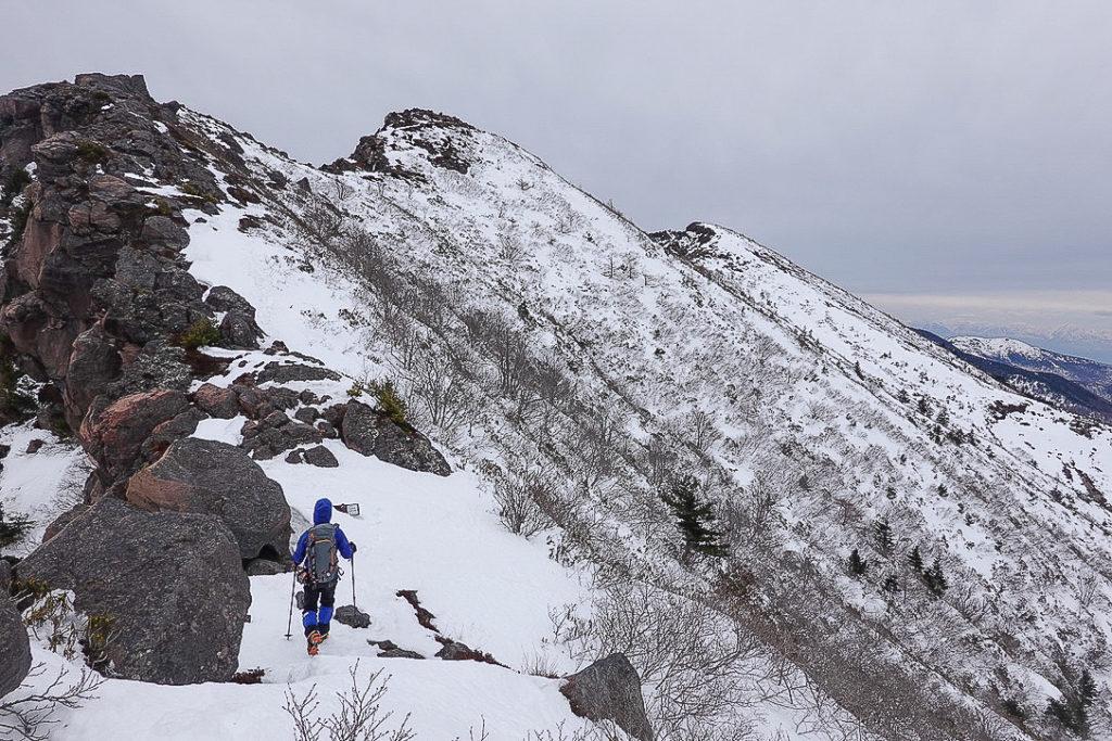残雪期・浅間山・鋸岳から仙人岳へ