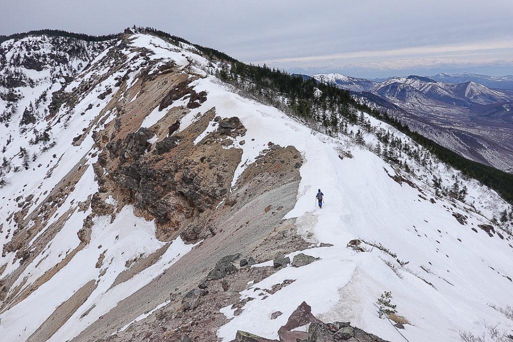 残雪期・浅間山・仙人岳から蛇骨岳