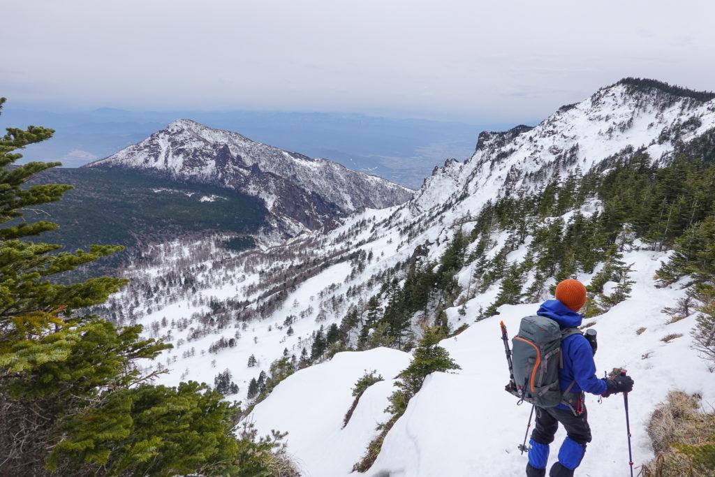 残雪期・浅間山・蛇骨岳から黒斑山