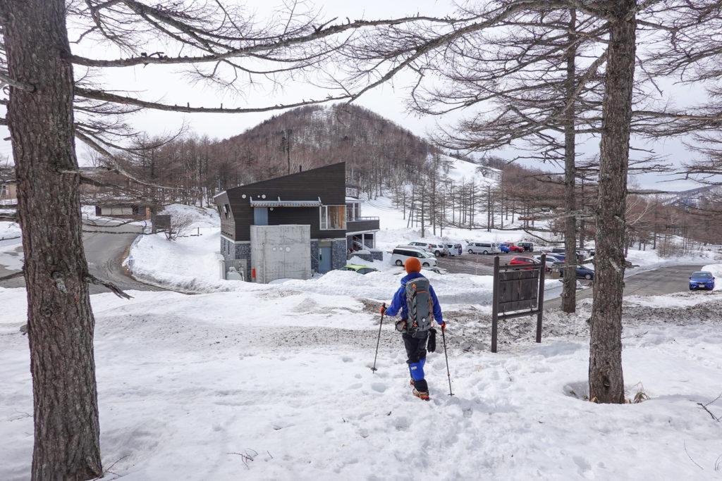 残雪期・浅間山・高峰高原ビジターセンター