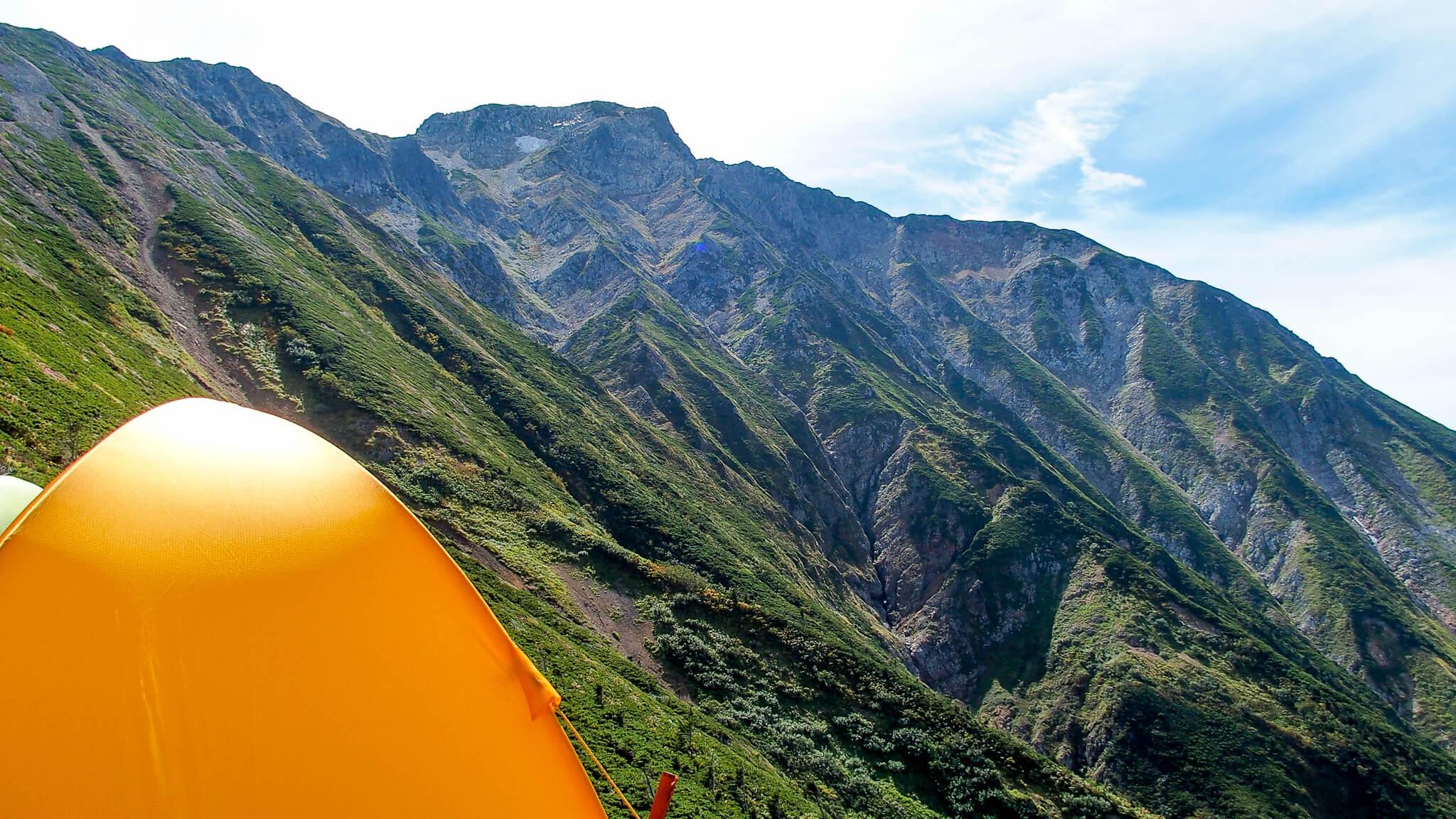 五竜岳のテント場