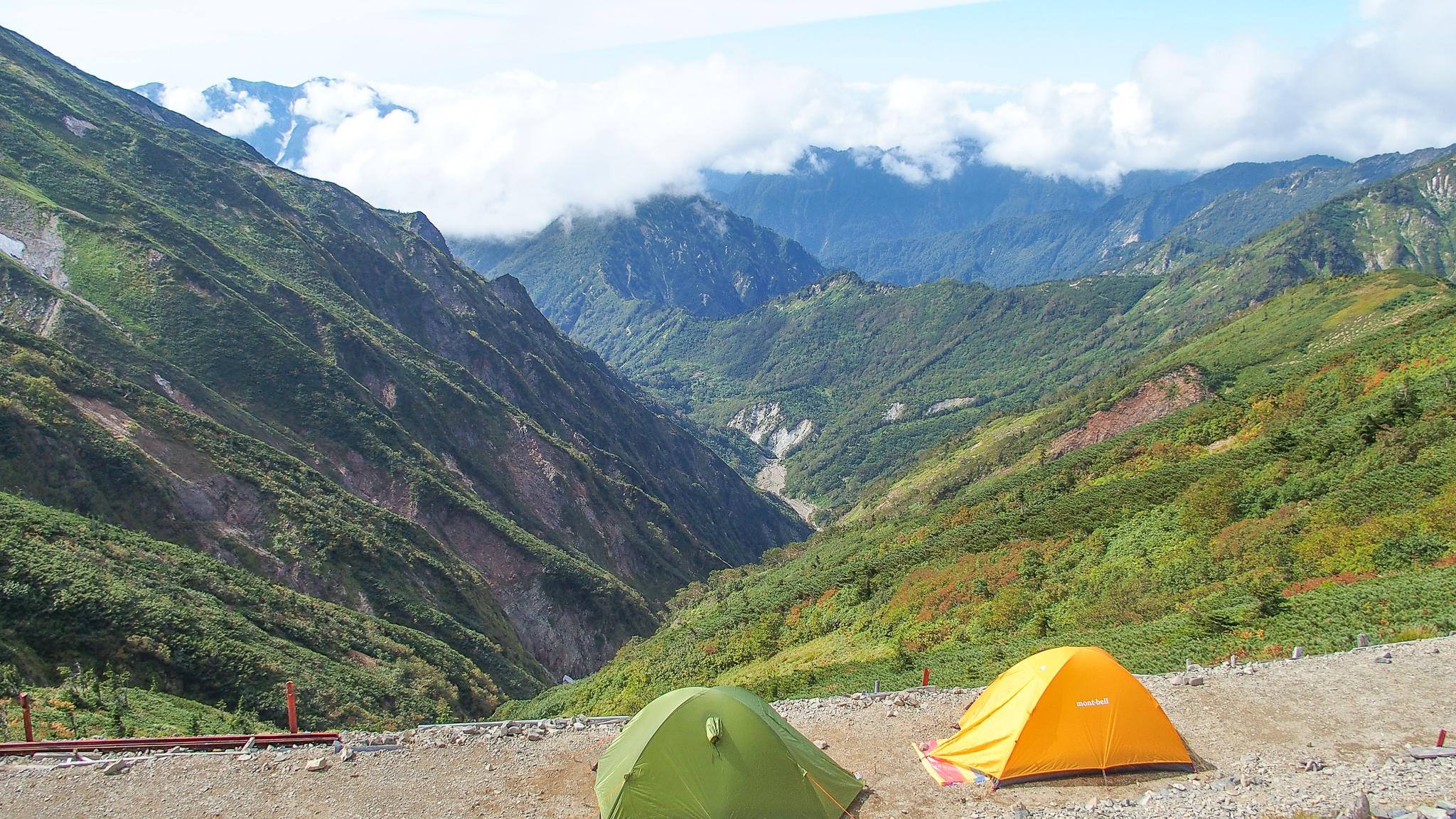 五竜岳のテント場2