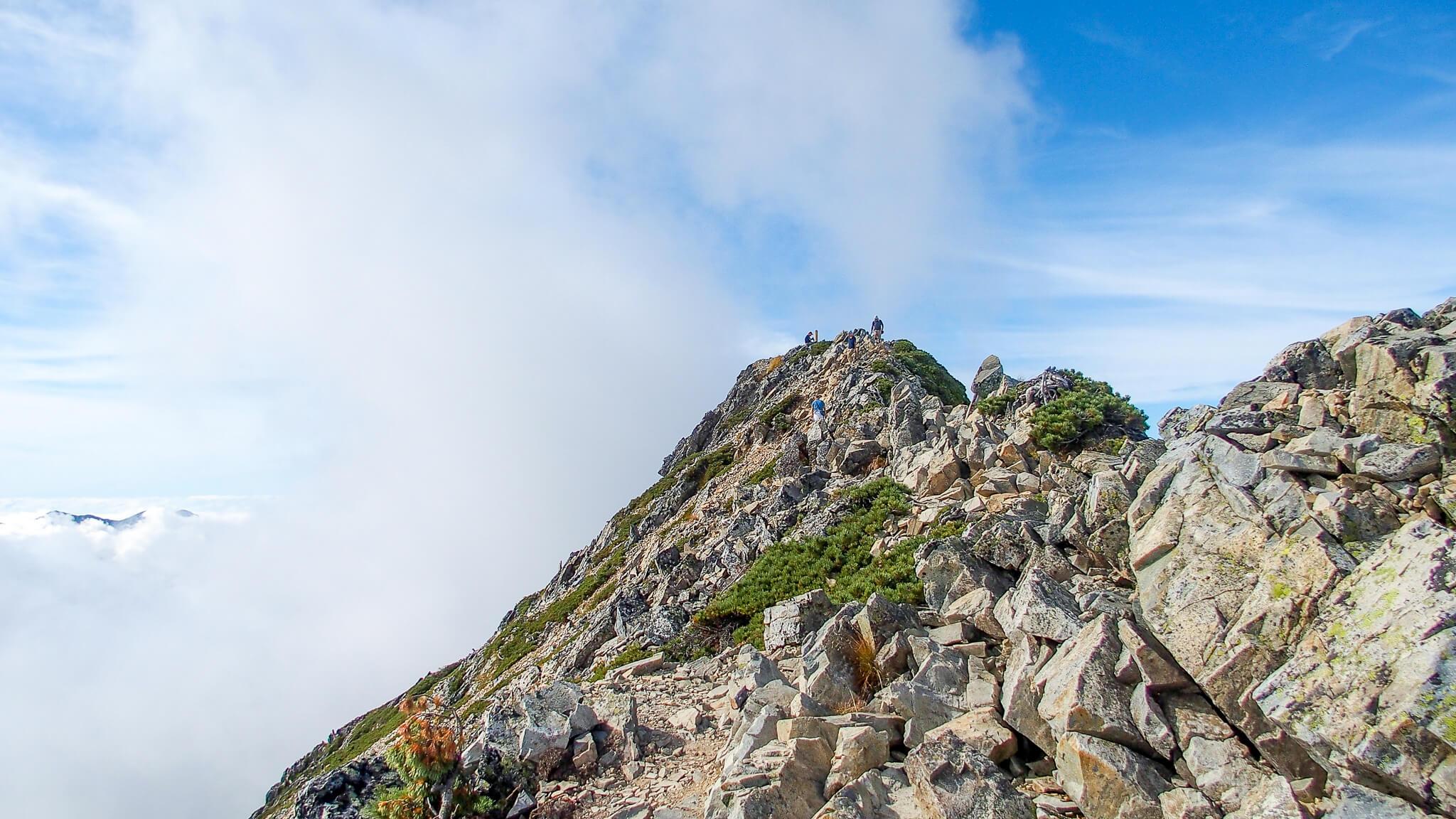 五竜岳にいざ行かん10・山頂まであと少し!