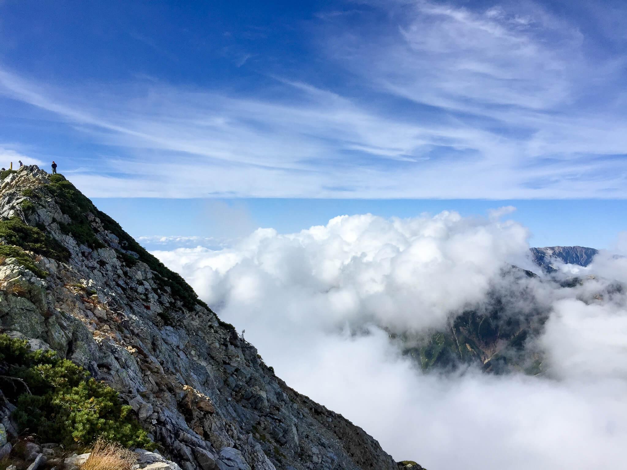 五竜岳にいざ行かん10・山頂まであと少し!2