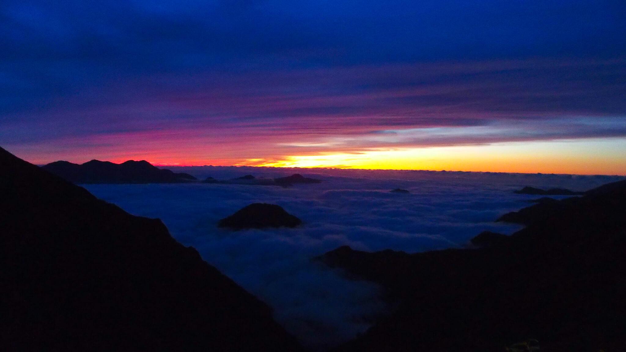 五竜山荘の日没