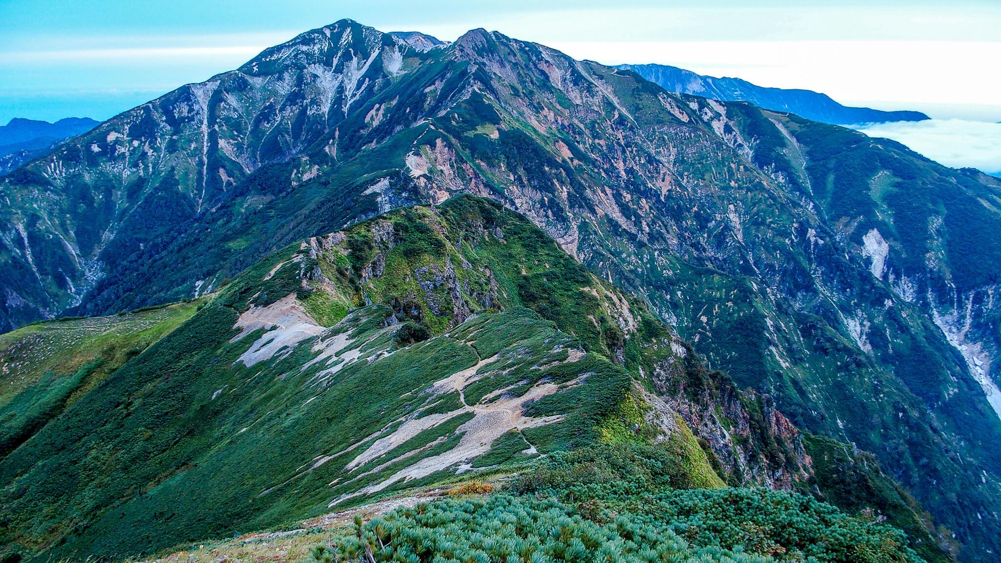 五竜岳・唐松岳に至る道