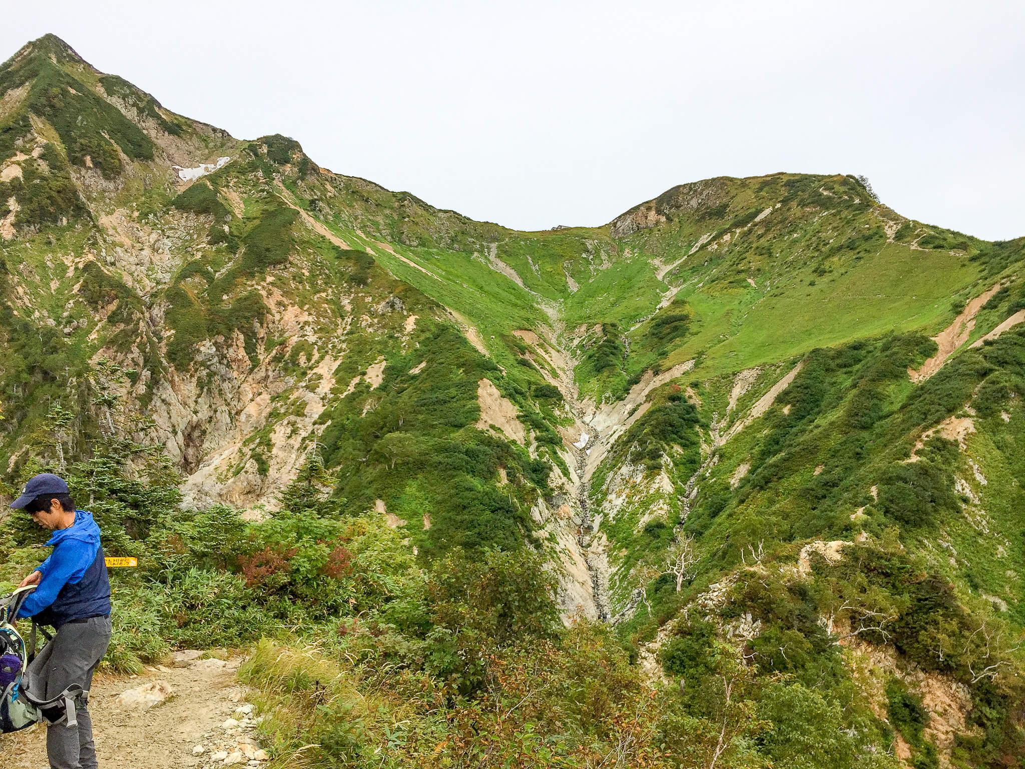 五竜岳・遠見尾根からの五竜山荘