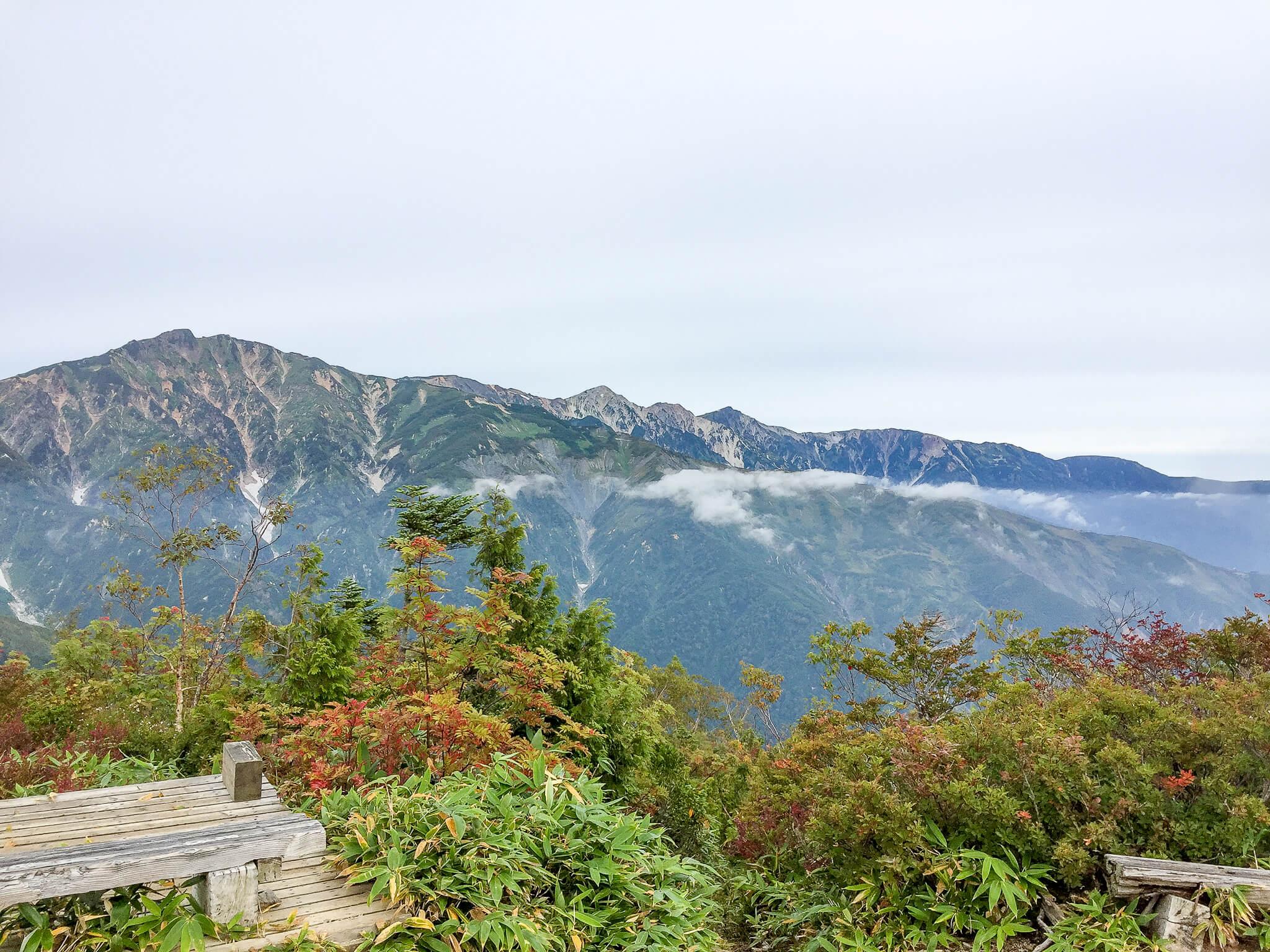 五竜岳・小遠見山からの唐松岳・白馬岳