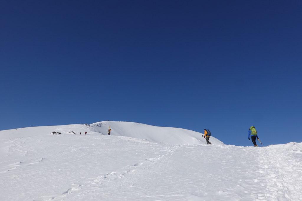 積雪期・唐松岳・八方池山荘から八方山へ