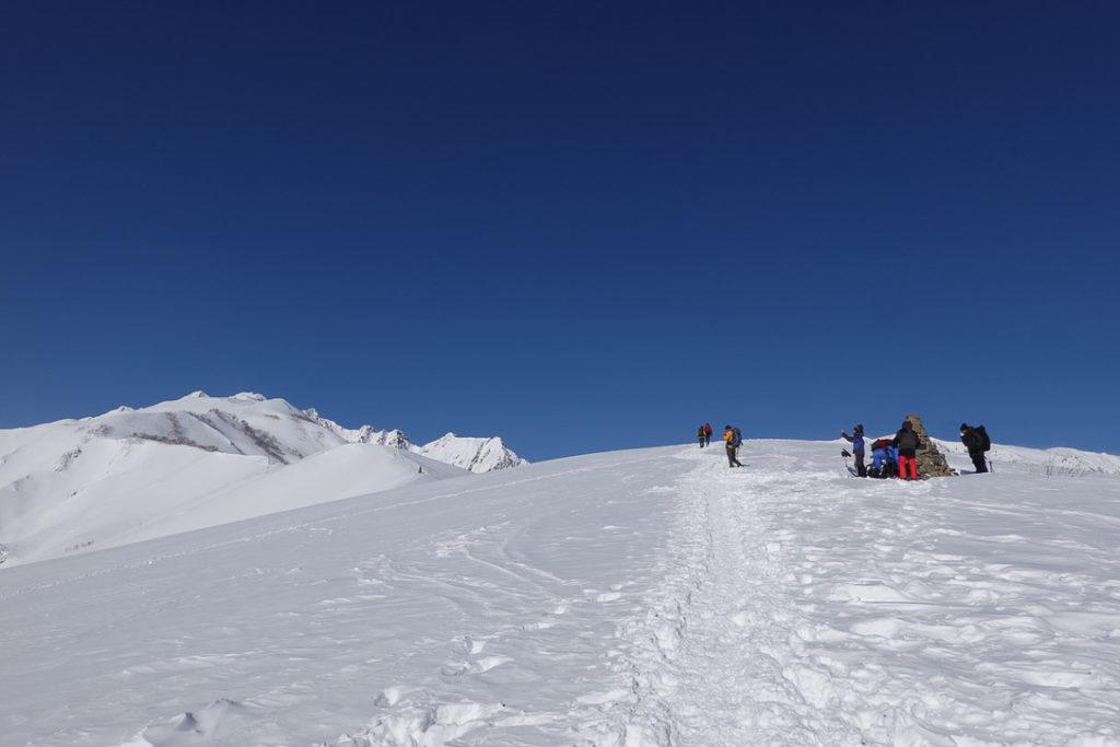 積雪期・唐松岳・八方山・八方山ケルン