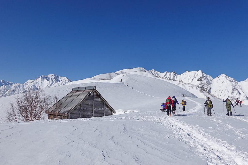 積雪期・唐松岳・八方山ケルンから第2ケルンへ