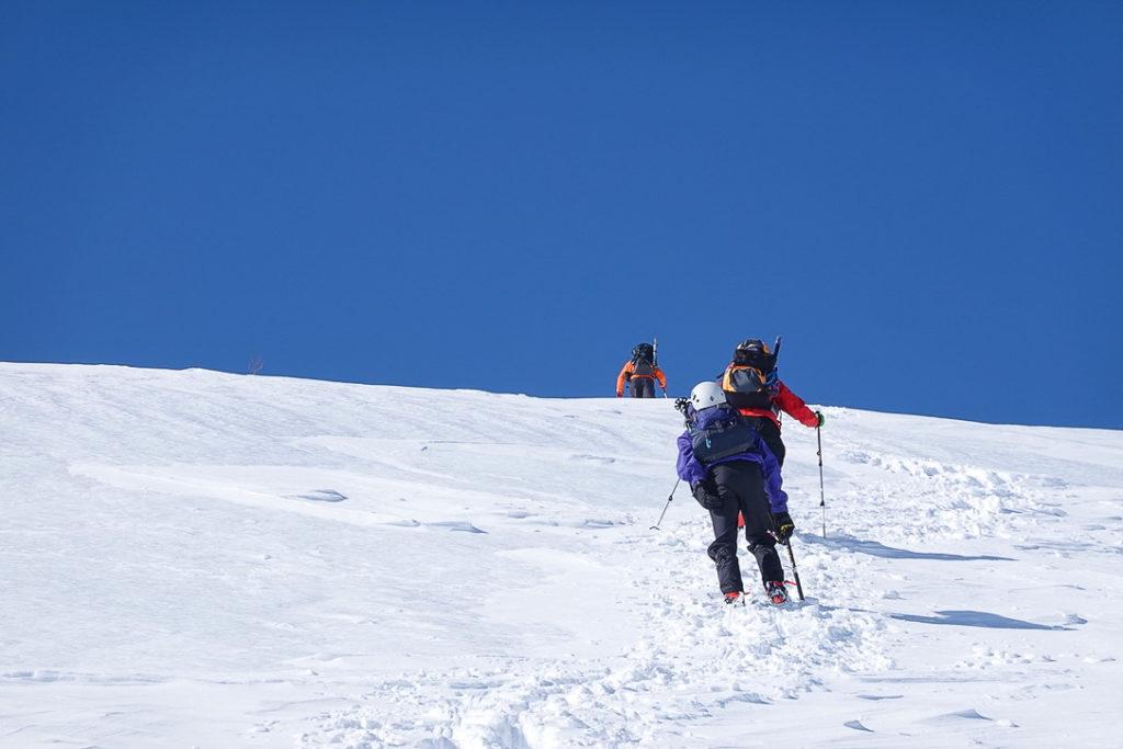積雪期・唐松岳・丸山へ・急登はじまる