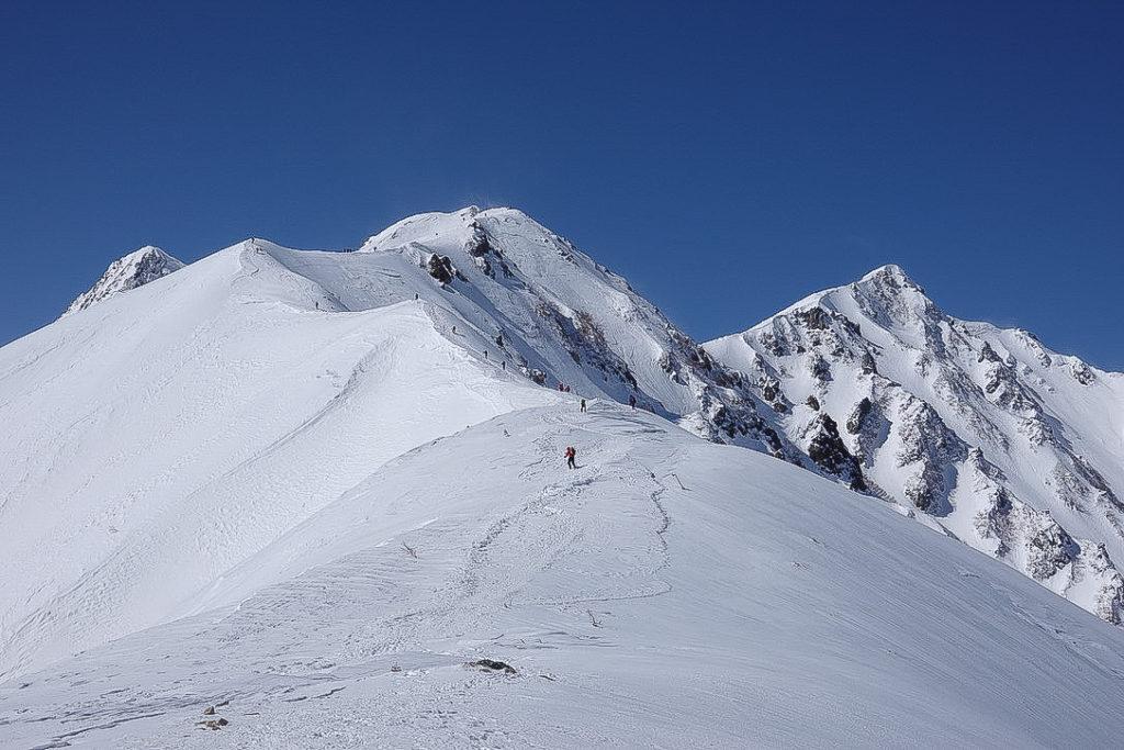 積雪期・唐松岳・丸山からの唐松岳