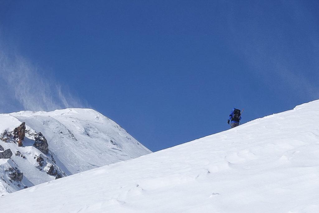 積雪期・唐松岳・上へ!上へ!