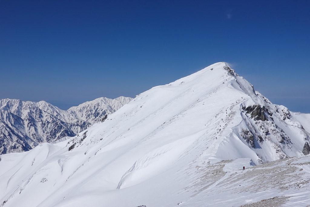 積雪期・唐松岳・唐松岳山頂