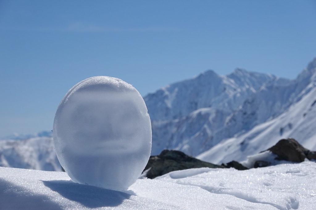 積雪期・唐松岳・鹿島槍ヶ岳と雪だるま