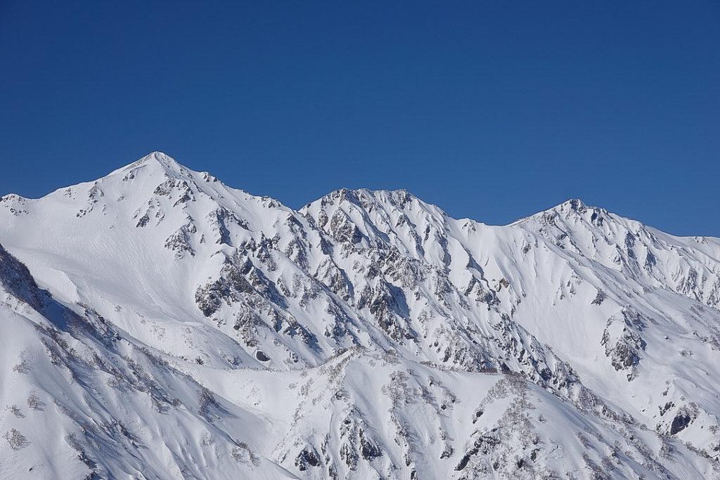 積雪期・唐松岳・白馬三山(白馬鑓ヶ岳・杓子岳・白馬岳)