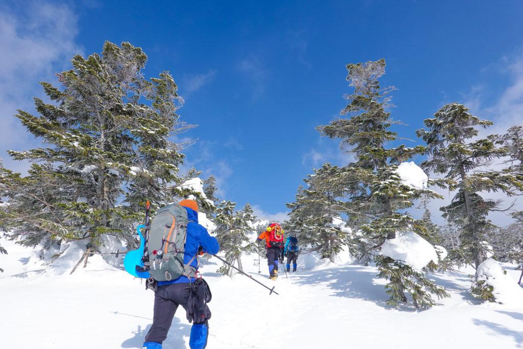 残雪期・西吾妻山・第4クワッドリフト終点・西吾妻山登山道