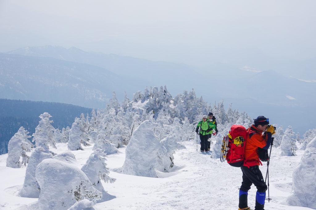 残雪期・西吾妻山・西大巓・スノーモンスターの撮影会