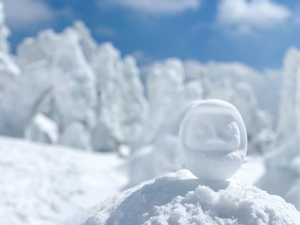 残雪期・西吾妻山・スノーモンスター with雪だるま