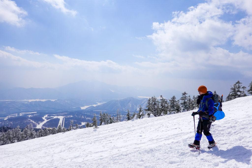 残雪期・西吾妻山・西大巓から下山中