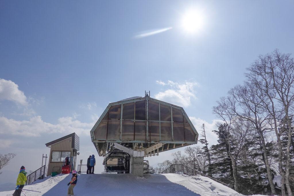 残雪期・西吾妻山・グランデコスノーリゾート・第4クワッドリフト