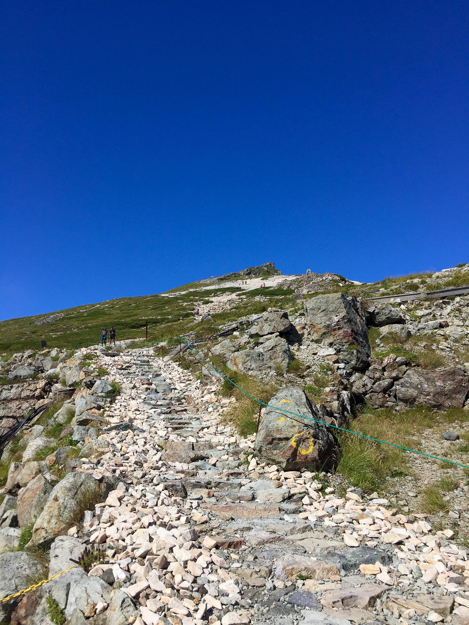 白馬岳・白馬山荘から白馬岳頂上を目指す