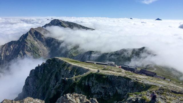 白馬岳からの白馬山荘