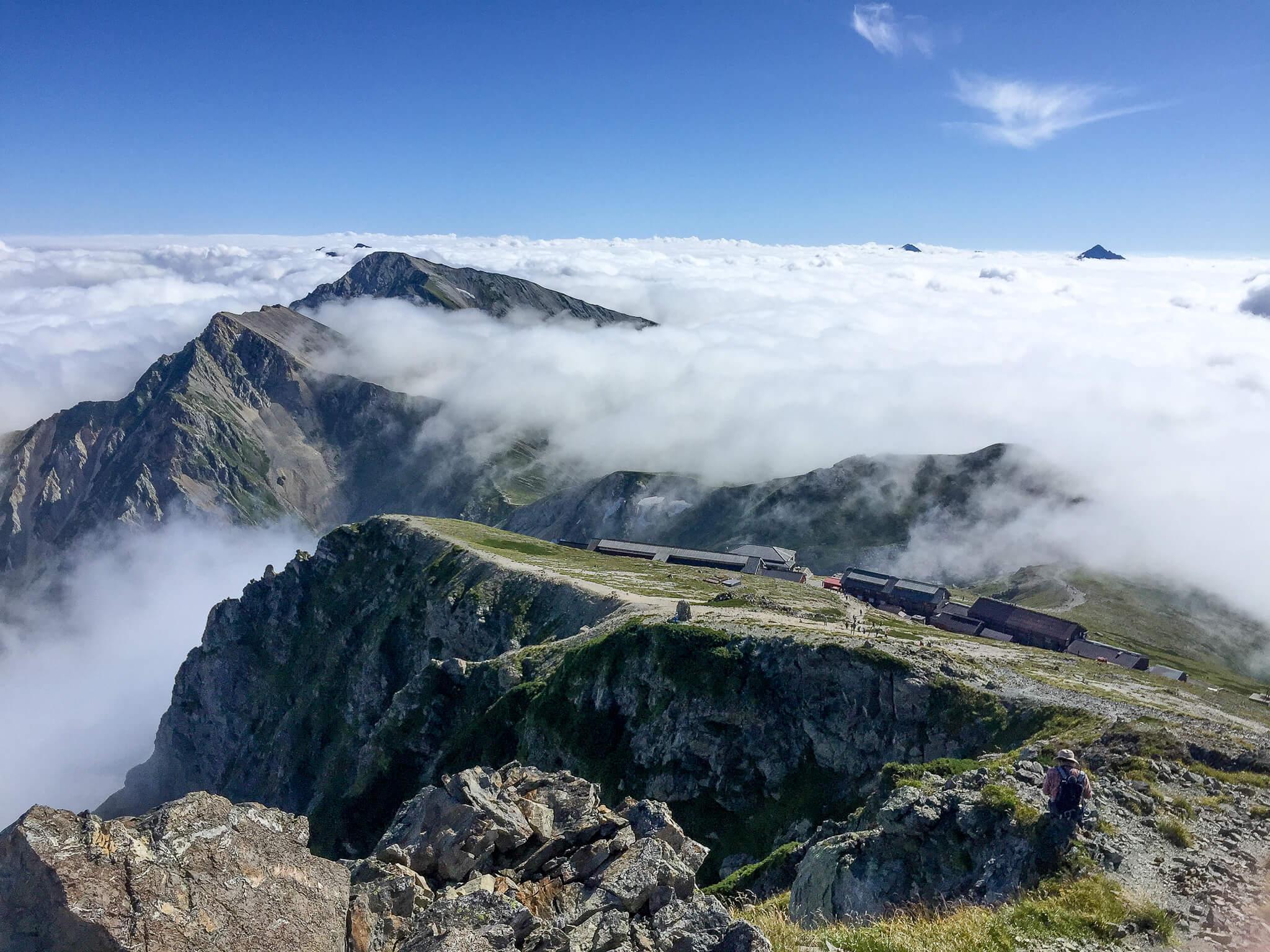 白馬岳・白馬岳山頂からの白馬山荘