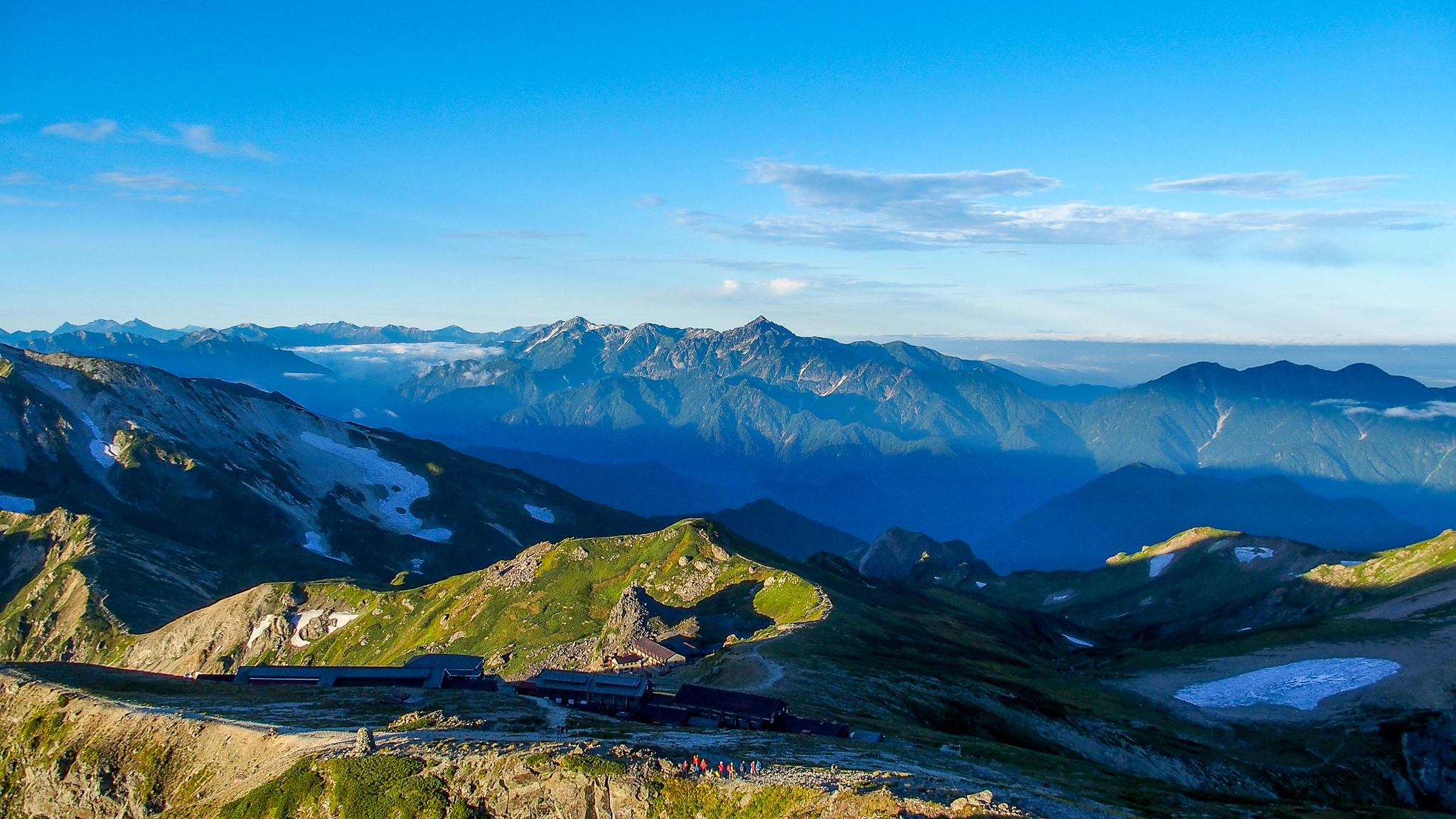 白馬岳・白馬岳山頂からの剱岳&立山連峰