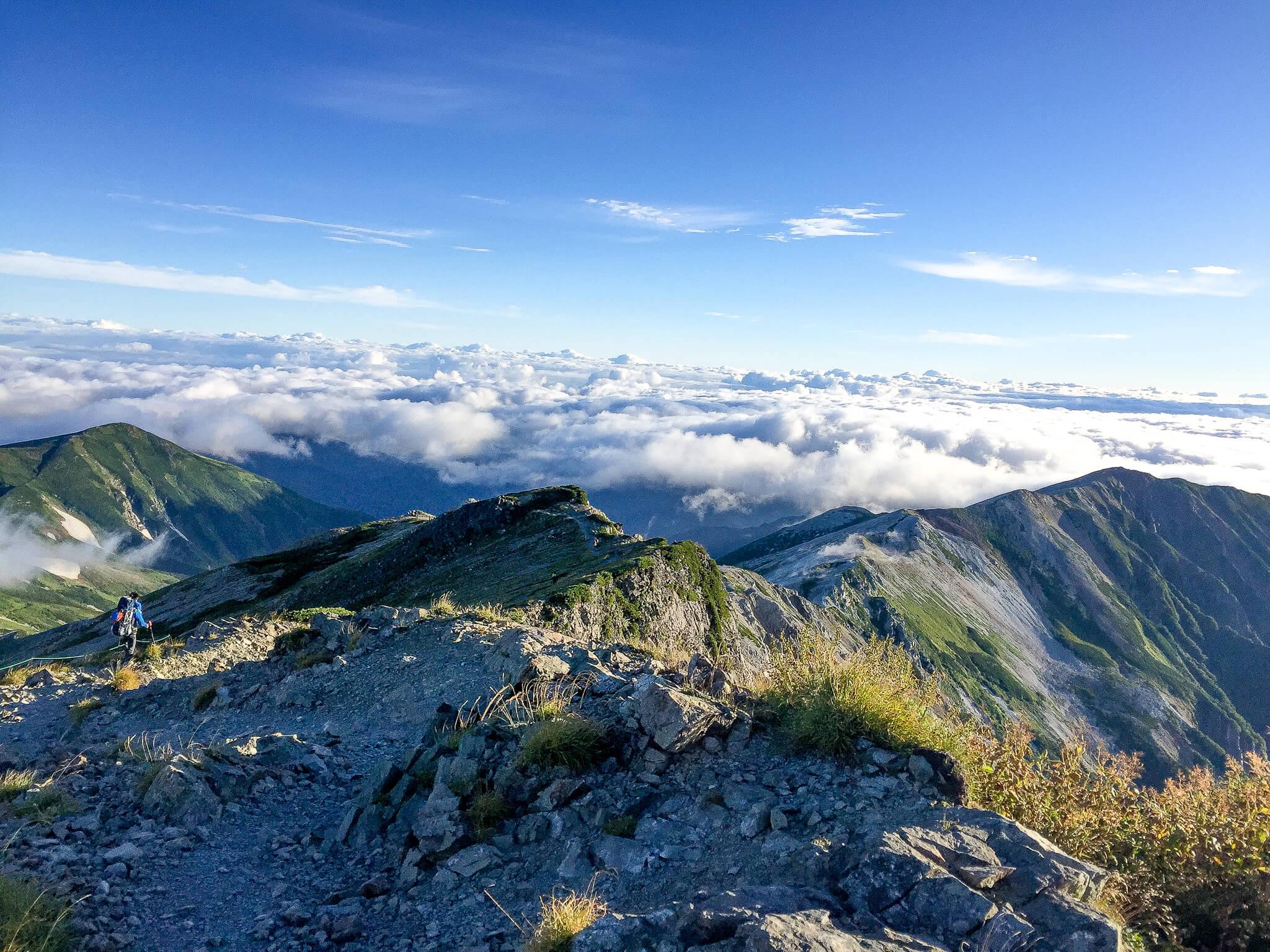 白馬岳・白馬岳から小蓮華山へと続く稜線