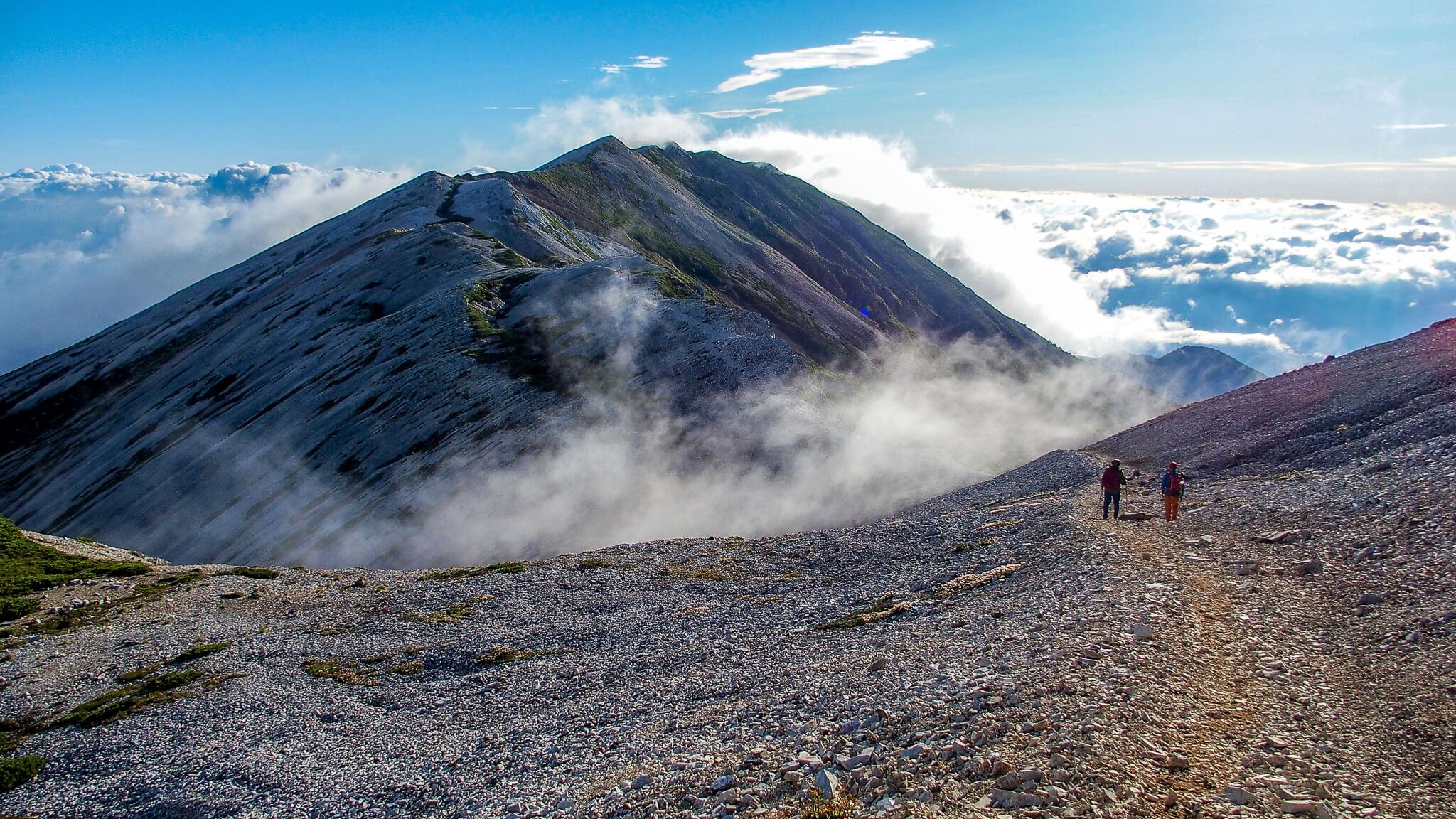白馬岳・白馬岳から小蓮華山への稜線4
