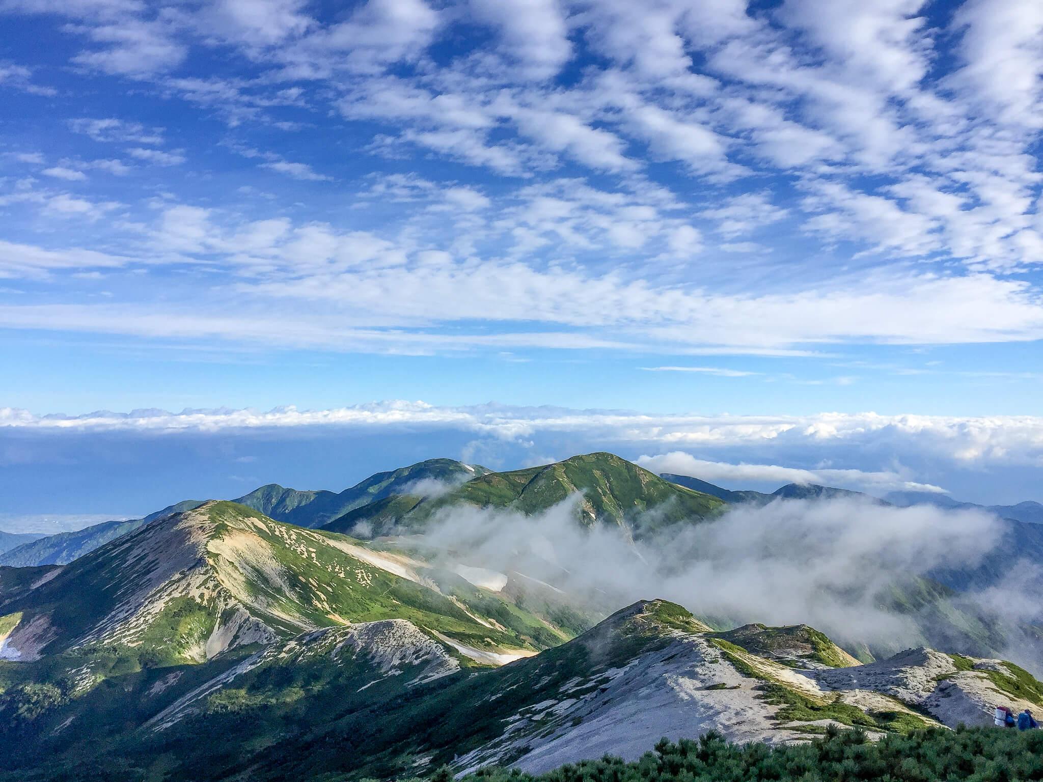 白馬岳・三国境から鉢ヶ岳、雪倉岳に至る道