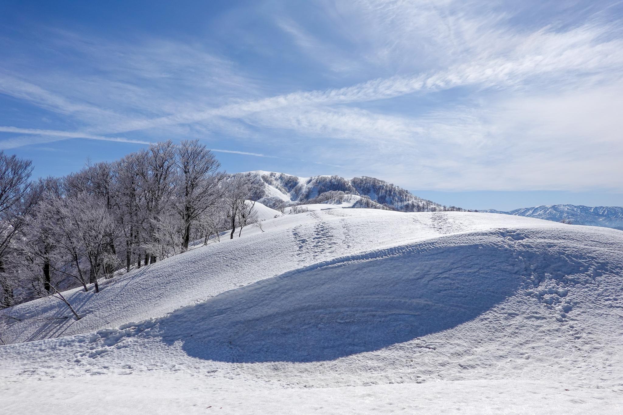 残雪期・日向倉山・波乗り雪庇