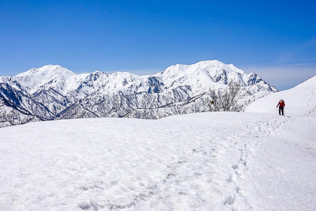 残雪期・日向倉山・4人目の登山者