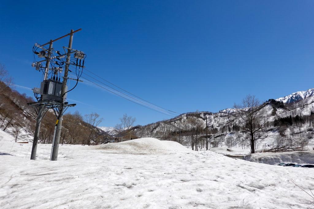 残雪期・日向倉山・日向倉山登山口へ帰還!