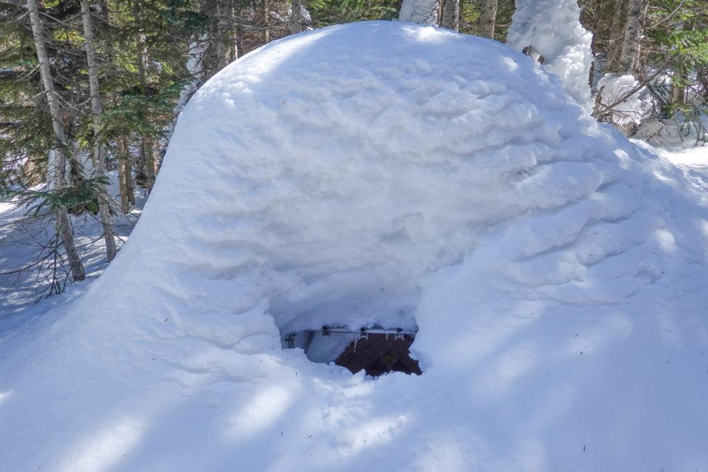 残雪期・日光白根山・大日如来