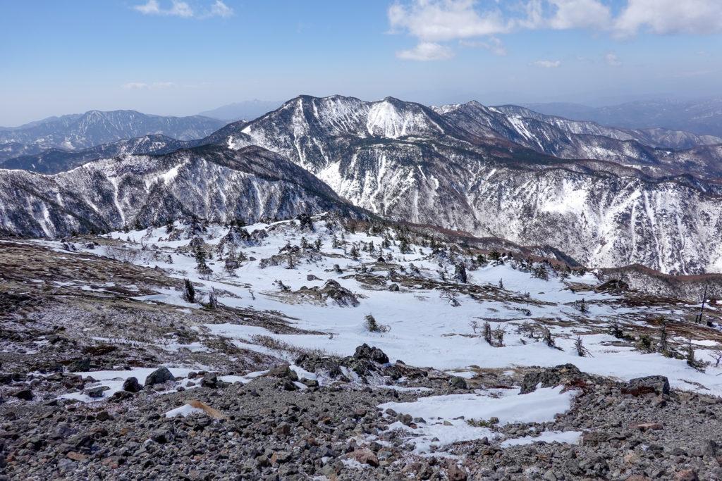残雪期・日光白根山・錫ヶ岳