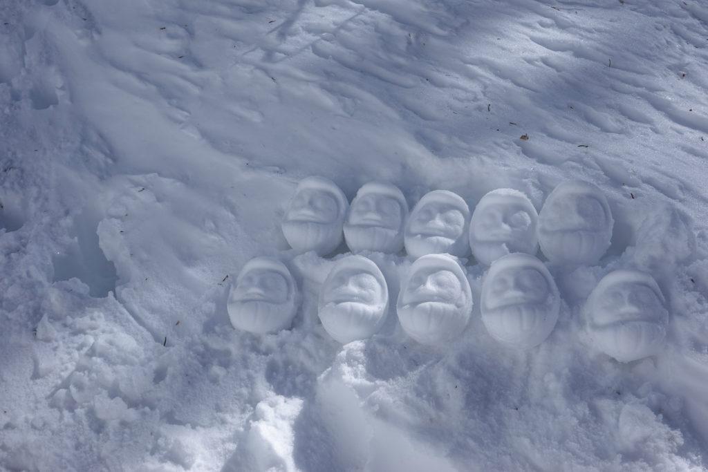 残雪期・日光白根山・雪だるま