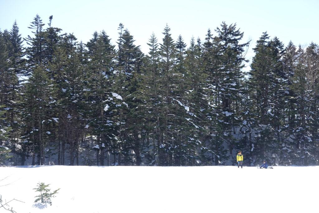 残雪期・日光白根山・七色平