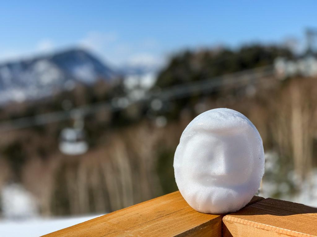 残雪期・日光白根山・ロープウェイで下山